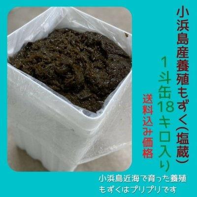 【1斗缶18kg入り】小浜島産養殖もずく(塩蔵)
