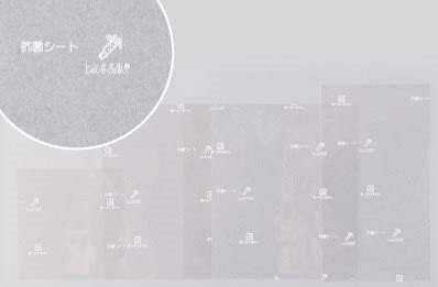 長野県内こども食堂寄付いたします【ワサビ成分でお弁当を守る】ワサガード抗菌シート 透明 160㎜×100㎜ 1ロット2000枚入(100枚×20袋)のイメージその3