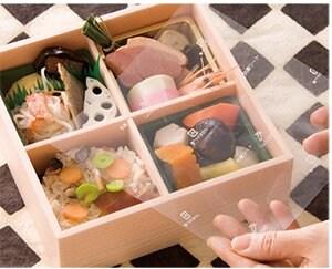 長野県内こども食堂寄付いたします【ワサビ成分でお弁当を守る】ワサガード抗菌シート 透明 160㎜×100㎜ 1ロット2000枚入(100枚×20袋)のイメージその1