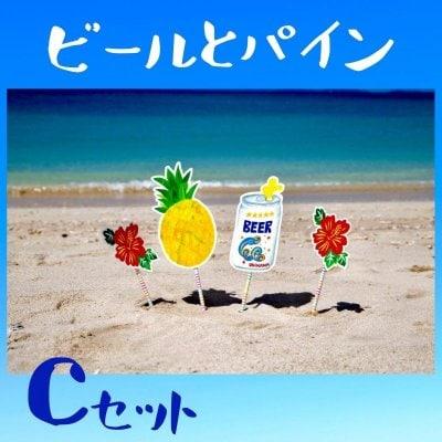 ビール+パイナップル+ハイビスカス×2☆フォトプロップスCセット