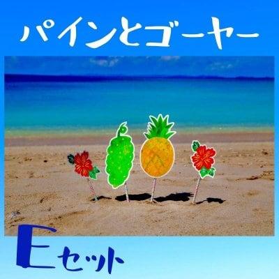 パイナップル+ゴーヤー+ハイビスカス×2☆フォトプロップスEセット