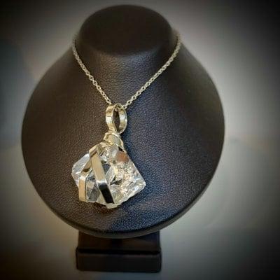 ハーキマーダイヤモンド(水晶)ネックレス