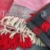 手織り大判ストールアウトレット品/ひざ掛けにもピッタリ!アルパカ.ウール混合