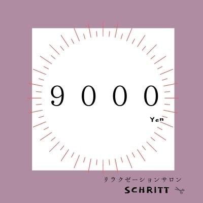 美容室schritt 9000円