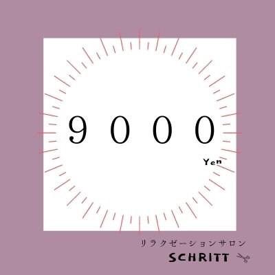 美容室schritt 9000円のイメージその1