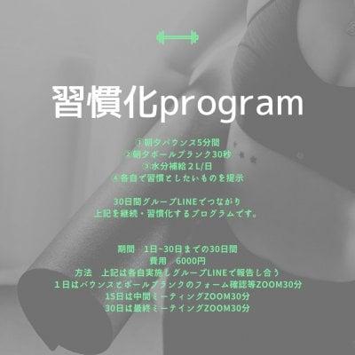 習慣化program