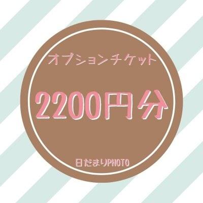 オプション 2200円チケット