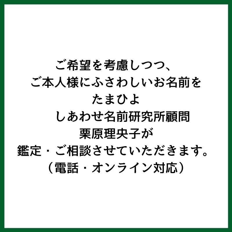 改名・改姓鑑定 お名前のご相談【電話・オンライン対応】 のイメージその3