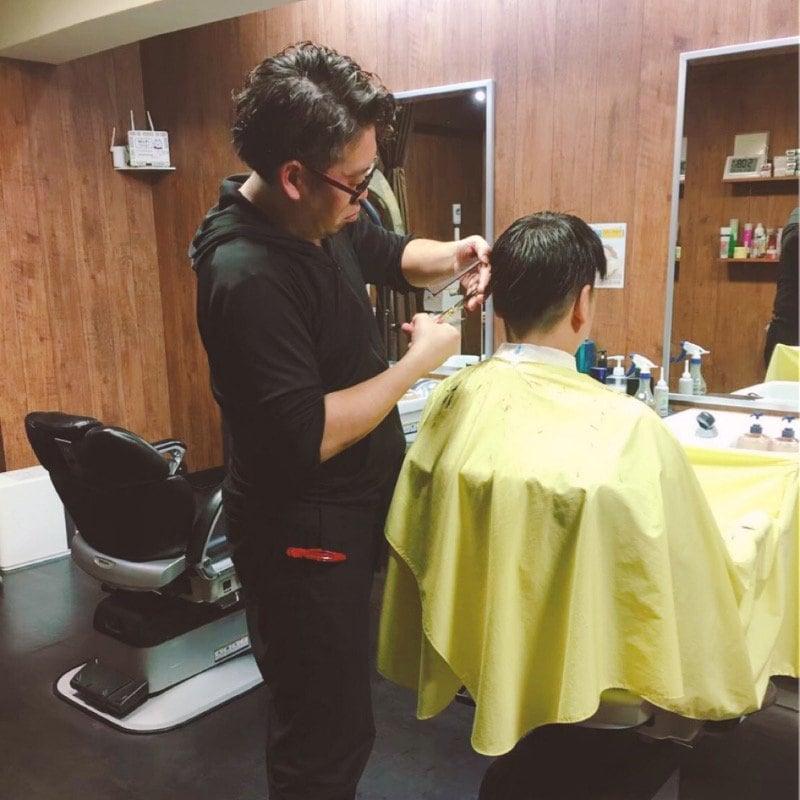 男性カット(顔剃り、シャンプー、セット) 3600円(税込)【大阪京橋 HairBox WAGO 】のイメージその3