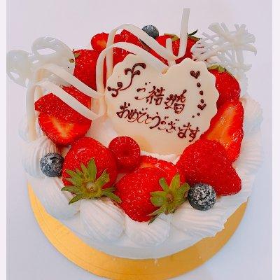 kawa様オーダーケーキ 15センチ  シュークリームセット