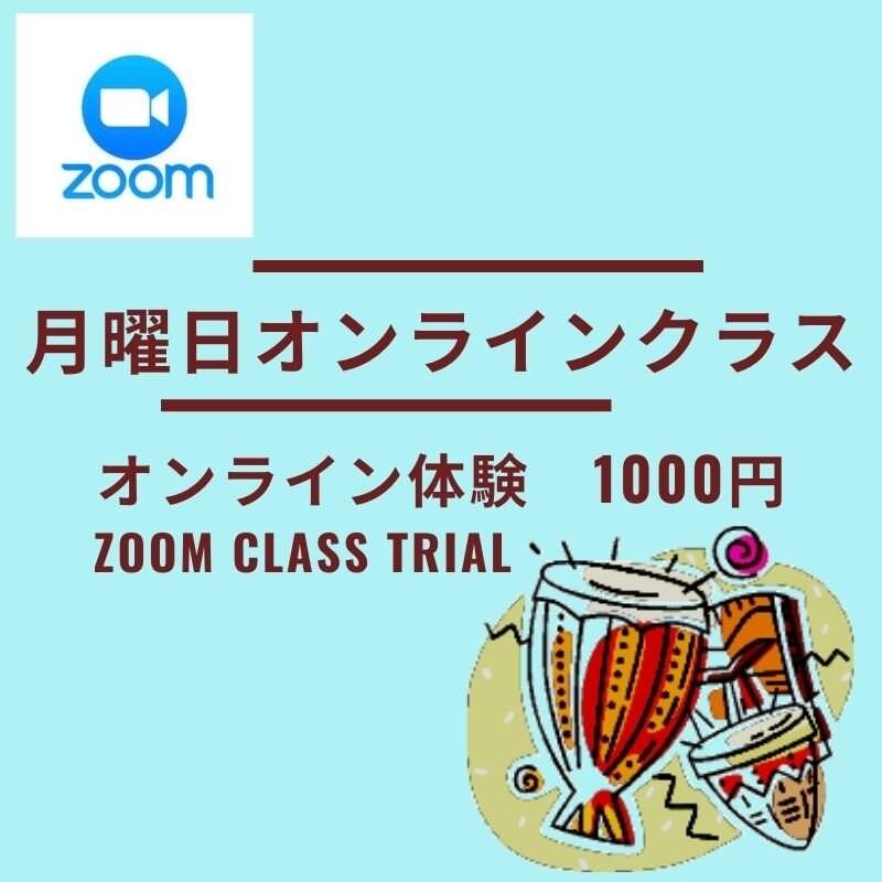 月曜日【ZOOM】オンラインクラス体験チケット(超入門/ラテングルーヴ)のイメージその1