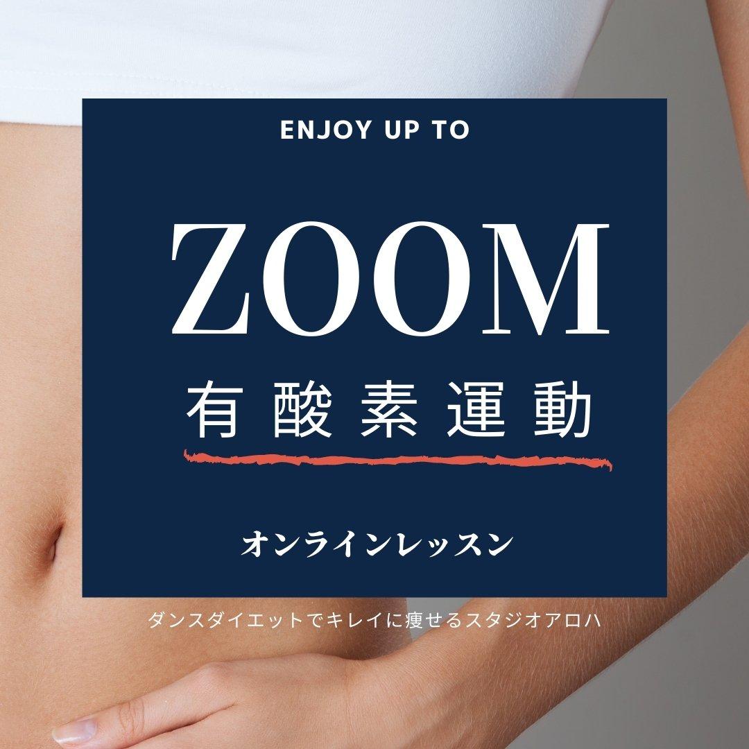 誰でも参加できます!オンライン有酸素運動(90分)3200円/ダンスダイエットで痩せるスタジオアロハのイメージその1