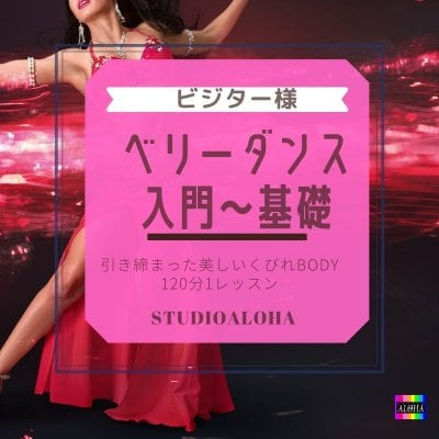 入会不要!ベリーダンスレッスン (入門〜基礎クラス120分)/ダンスダイエットで痩せるスタジオアロハ