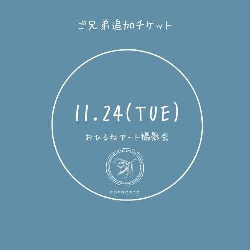 【ご予約済の方限定】■追加ご兄弟チケット■ 11/24(火)おひるねアート撮影会のイメージその1