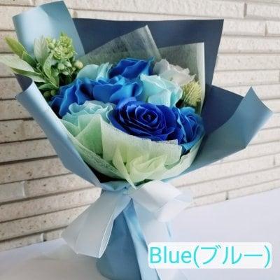 【母の日】【ブルー】シャボンフラワーブルーローズブーケ