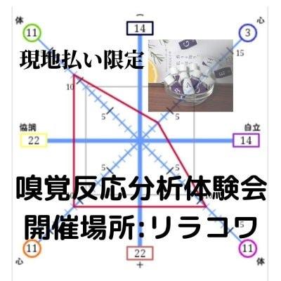 4/22日(木)【6名様限定】 リアル嗅覚反応分析体験会 開催場所:札幌エルプラザ4F リラコワ