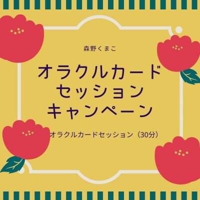 オラクルカードセッション☆キャンペーン(30分)