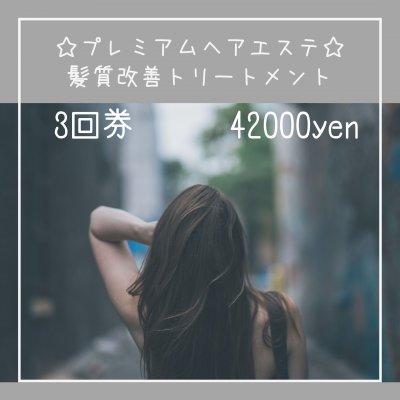 プレミアムヘアエステ☆髪質改善tr 3回券
