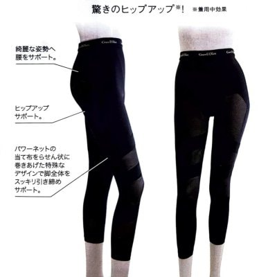 【美脚革命】脚痩せ用レディーススパッツ10分丈【ダイエット】
