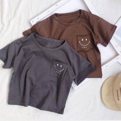 【ラスト1点】ブラック90cm/にこちゃんTシャツ