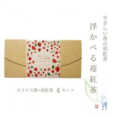 浮かべる苺紅茶 国産無添加ストロべリィティー4セット