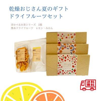 今だけ夏のギフト特別価格‼ ドライみかん・レモン 浮かべるお茶3箱セ...