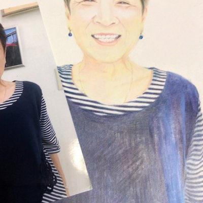 色えんぴつで描く似顔絵リアルA5サイズ(1アイテム)