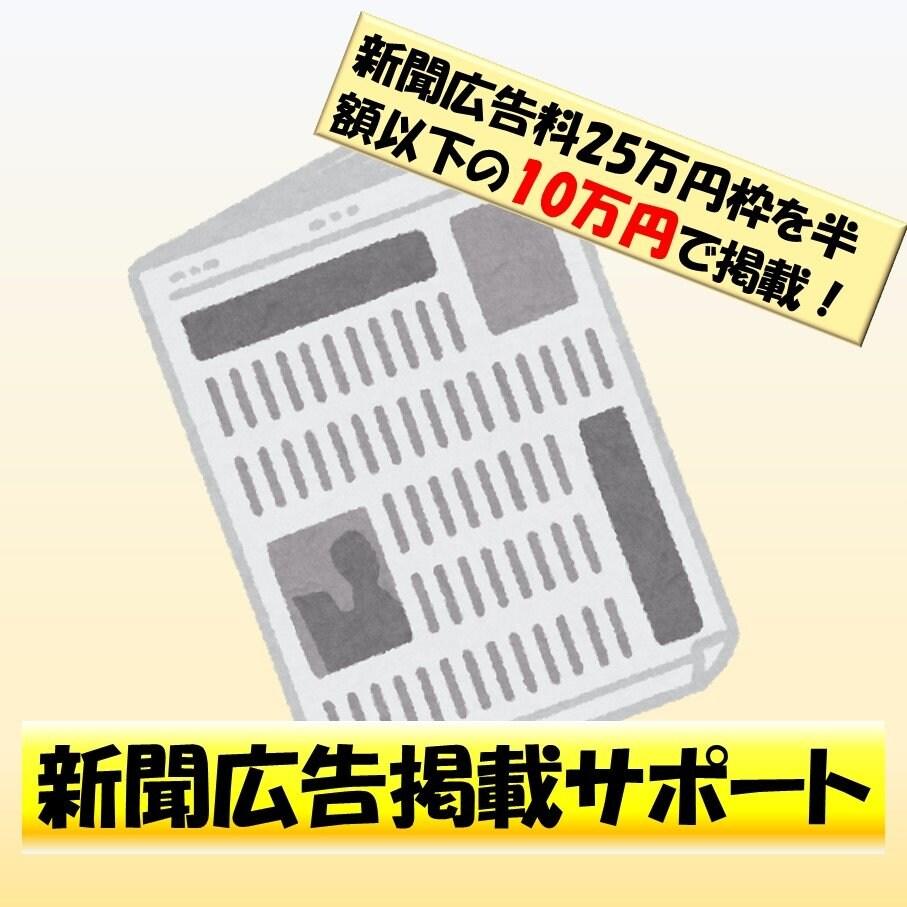新聞広告掲載チケット25万円相当のイメージその1