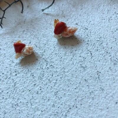 ★<送料無料>【シーグラスアクセサリー1点もの】天然石レッドジャスパ...