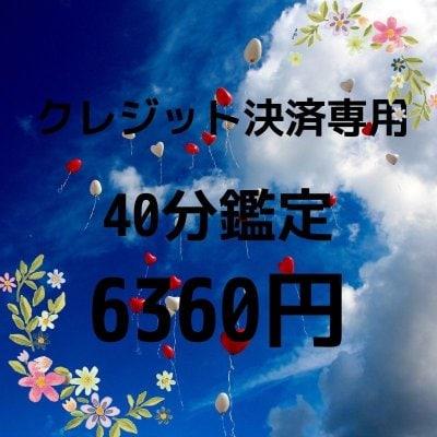 (クレジット決済専用)シードクリアリング40分鑑定