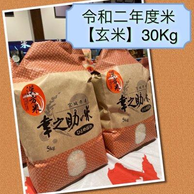 ⭐令和2年度玄米⭐幸之助の米(玄米)30kg 送料無料