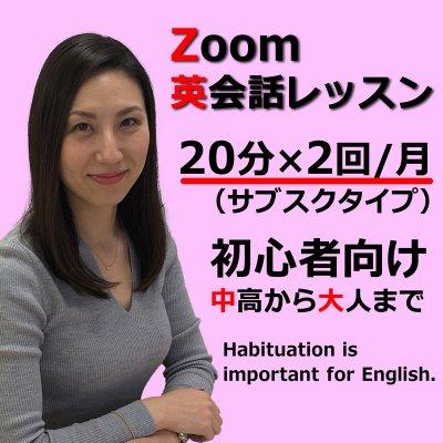 Zoom英会話レッスン 20分月2回(ライトプラン)