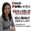Zoom英会話レッスン 40分月4回(スタンダードプラン)