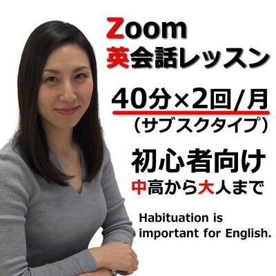 Zoom英会話レッスン 40分月2回(スタンダードプラン)