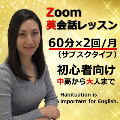 Zoom英会話レッスン 60分月2回(プレミアムプラン)