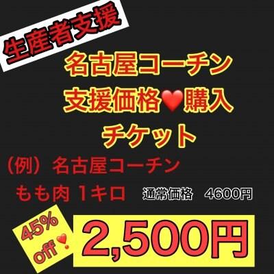 【生産者支援】秘伝!鶏の塩から揚げレシピ付き・名古屋コーチン支援価格購入チケット