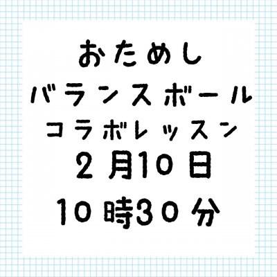 幼児教育バランスボールコラボお試しチケット 2/10