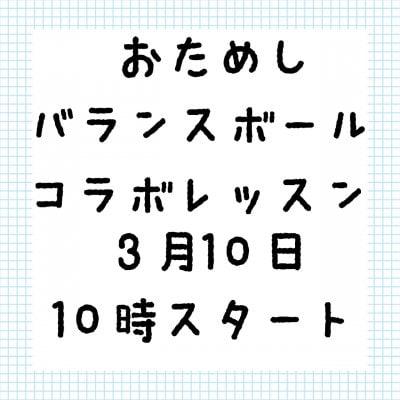 幼児教育バランスボールコラボお試しチケット3/10