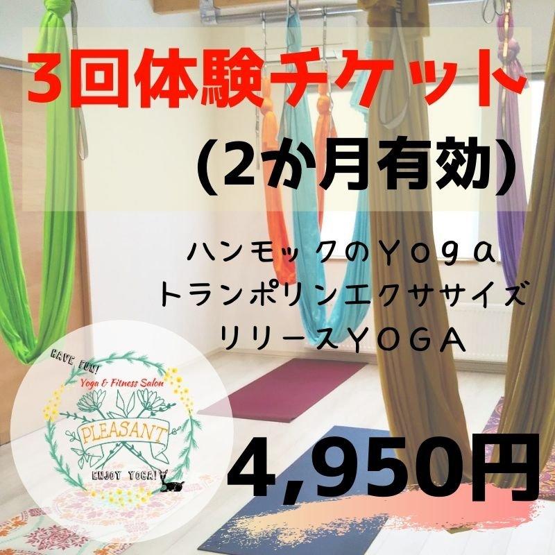 【プレザント会員】3回体験チケット(2か月有効)のイメージその1