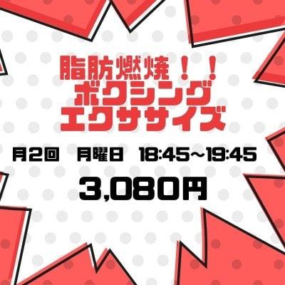 【オンラインボクシングエクササイズサークル】月曜日クラス2回分