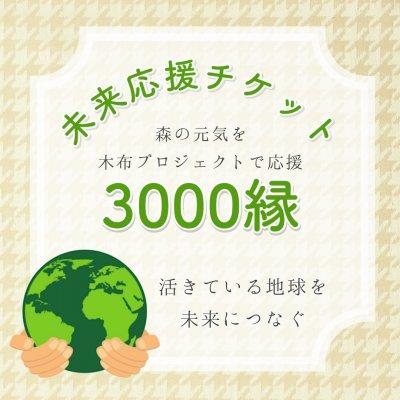 木布で森林を守る「未来応援チケット」3000縁