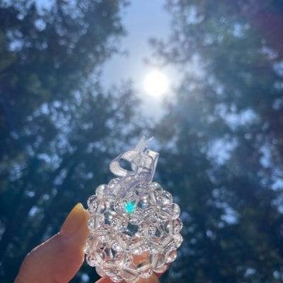 神聖幾何学フラーレン天然石水晶