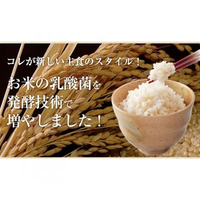 お腹快調!世界初、玄米が発酵!発酵発芽玄米、白米に混ぜて、炊くだけで、おいしい乳酸菌がいっぱいの玄米!