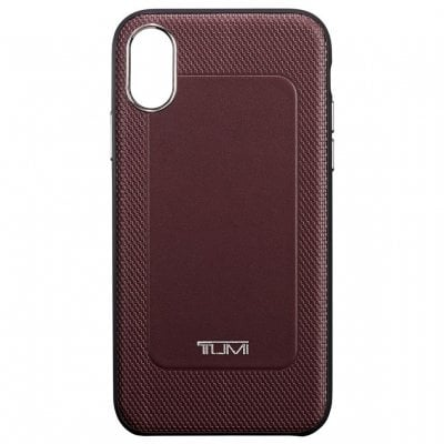 トゥミ(TUMI)iPhone XR レザーケース(バーガンディ)