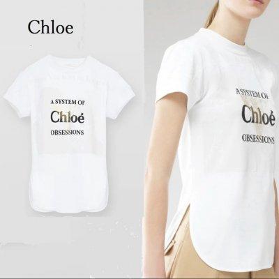 クロエ Tシャツ フィットプリント クロエ