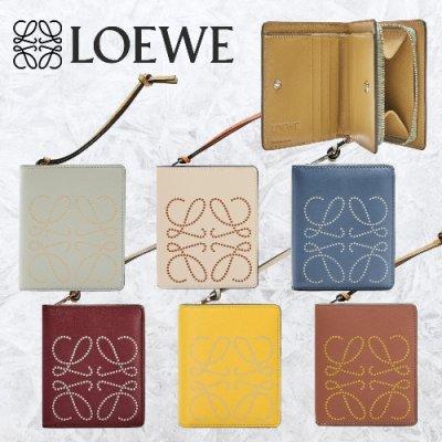 LOEWE (ロエベ) ブランド コンパクト ジップ ウォレット (カーフ)