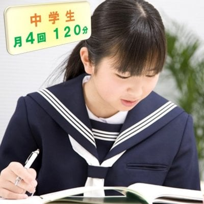 中学生家庭教師/お月謝/月4回チケット/120分(現地払い専用)