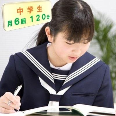 中学生家庭教師/お月謝/月6回チケット/120分(現地払い専用)