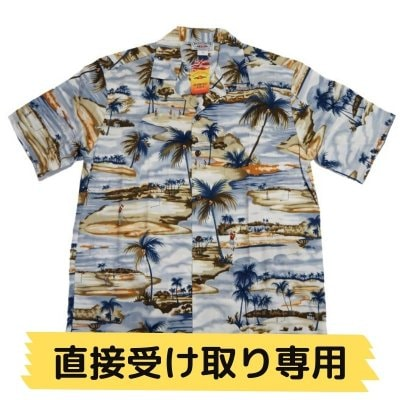 ※クーポン利用S.T様専用※メンズ アロハシャツ [ゴルフ/ブルー/コット...