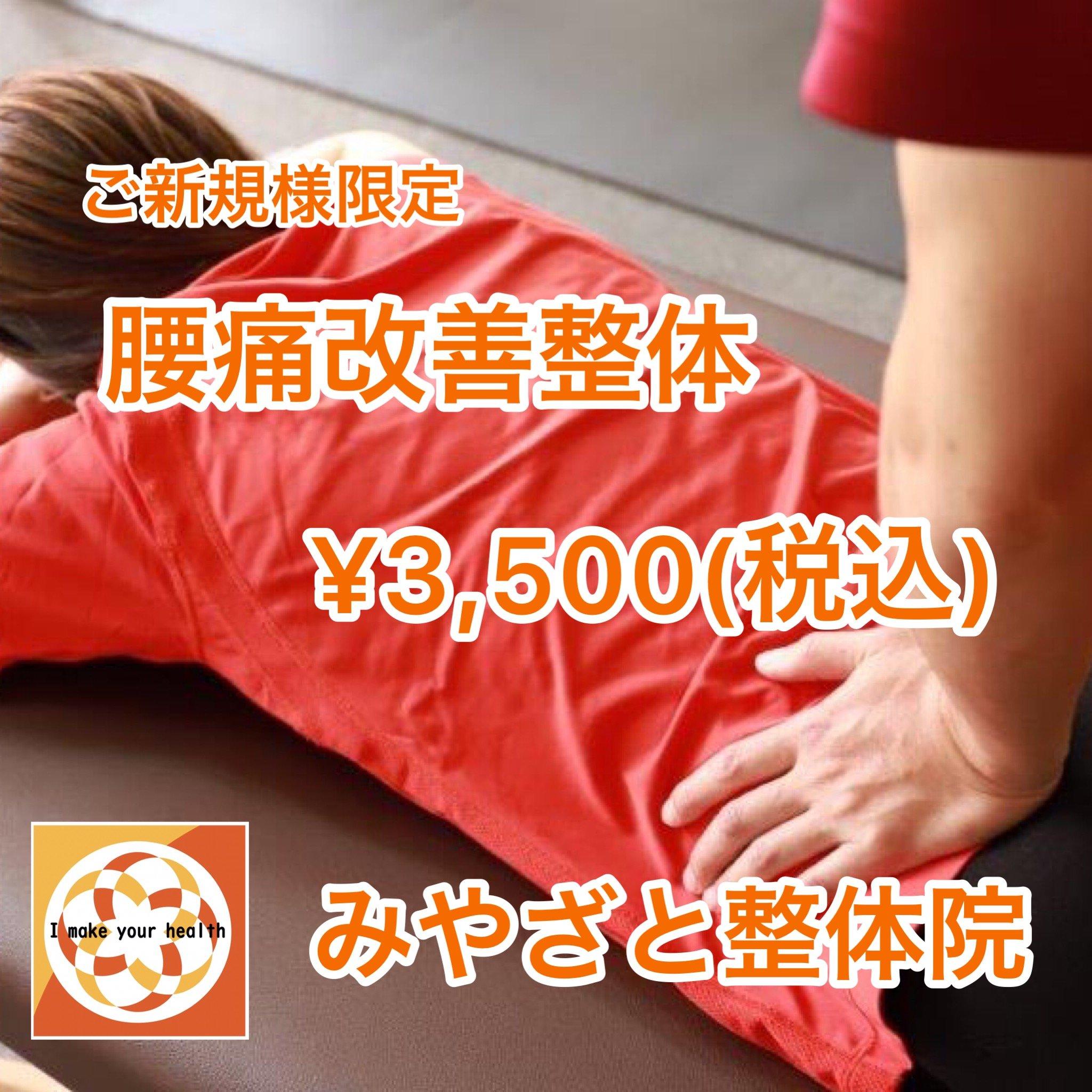 【ご新規様限定】腰痛改善整体お試しチケット◆現地払い限定◆のイメージその1